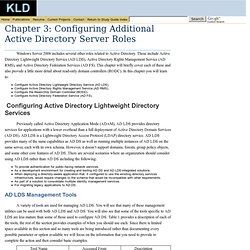 Configuring Additional Active Directory Server Roles