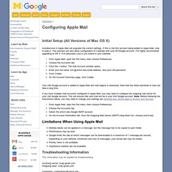 Configuring Apple Mail - M+Google