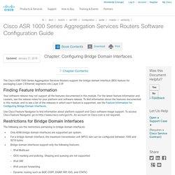Configuring Bridge Domain Interfaces