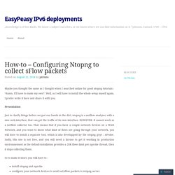 How-to – Configuring Ntopng to collect sFlow packets