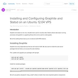Installing and Configuring Graphite and Statsd on an Ubuntu 12.04 VPS