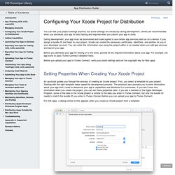 Configuring Your Xcode Project for Distribution