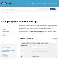 Configuring WooCommerce Settings