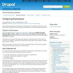 Configuring Dreamweaver