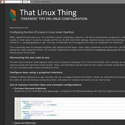 Configuring function (Fn) keys in Linux under Openbox