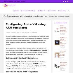 Configuring Azure VM using ARM templates