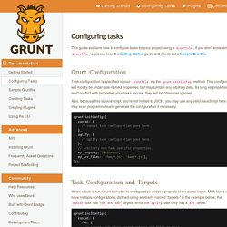 Configuring tasks - Grunt: The JavaScript Task Runner