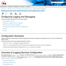 Configuring Logging and Debugging