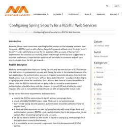 Configuring Spring Security for a RESTful Web Services – NetworkedAssets