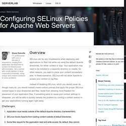 Configuring SELinux Policies for Apache Web Servers - Serverlab