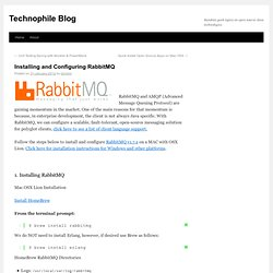 Installing and Configuring RabbitMQ | Technophile Blog