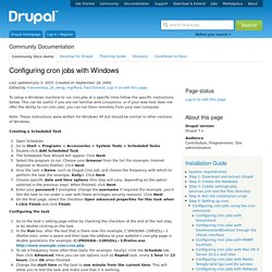 Configuring cron jobs with Windows