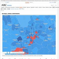 Busca si tu calle está dentro de una zona de confinamiento de Madrid por su nivel de coronavirus
