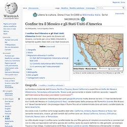Confine tra il Messico e gli Stati Uniti d'America