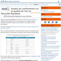 Impact du confinement sur la qualité de l'air en Nouvelle-Aquitaine - Pôle civisme et citoyenneté