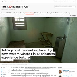 Mélodie - Solitary confinement replaced by new system where 1 in 10 prisoners experience torture