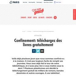 Lecture_Confinement: téléchargez des livres gratuitement_Liste_site: quefaire.paris.fr