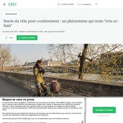"""Boom du vélo post-confinement : un phénomène qui reste """"très urbain""""..."""