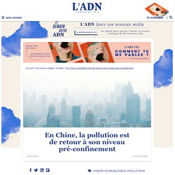 Covid-19 : après le confinement, la pollution de l'air est de retour