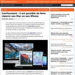 Confinement : il est possible de faire réparer son Mac ou son iPhone