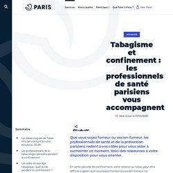 Tabagisme et confinement: les professionnels de - Ville de Paris
