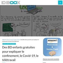 BD enfants gratuites pour expliquer le confinement, le Covid-19, le télétravail