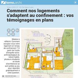 Comment nos logements s'adaptent au confinement : vos témoignages en plans - tema.archi