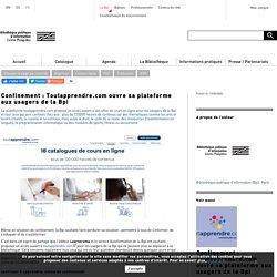 Toutapprendre.com ouvre sa plateforme aux usagers de la Bpi
