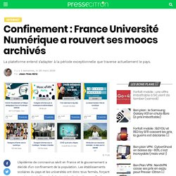 Confinement : France Université Numérique a rouvert ses moocs archivés