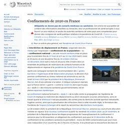 Confinement de 2020 en France