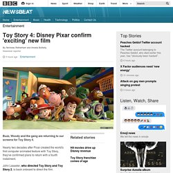 Toy Story 4: Disney Pixar confirm 'exciting' new film - BBC Newsbeat