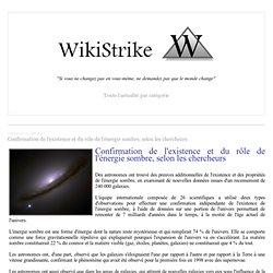 Confirmation de l'existence et du rôle de l'énergie sombre, selon les chercheurs