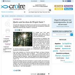 Les dons de l'Esprit - Confirmation - Etapes de la vie - Définitions - Croire.com - Nightly
