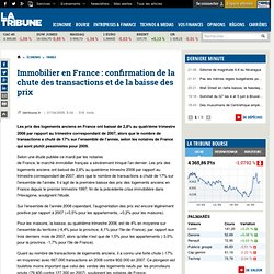 LaTribune.fr - Immobilier en France : confirmation de la chute d