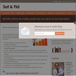 ACCOR confirme les 8 effets positifs des avis clients