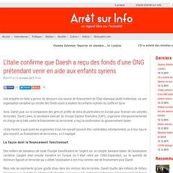 L'Italie confirme que Daesh a reçu des fonds d'une ONG prétendant venir en aide aux enfants syriens