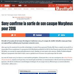 Sony confirme la sortie de son casque Morpheus pour 2016
