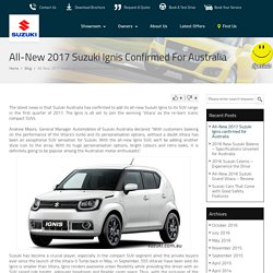 All-New 2017 Suzuki Ignis confirmed for Australia : Penrith Suzuki Blog