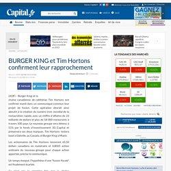 BURGER KING et Tim Hortons confirment leur rapprochement