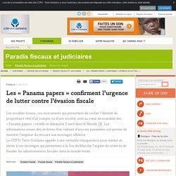 Les « Panama papers » confirment l'urgence de lutter contre l'évasion