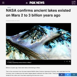NASA confirms ancient lakes existed on Mars 2 to 3 billion years ago