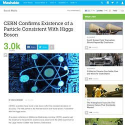 CERN Confirms Existence of a Particle Consistent With Higgs Boson
