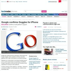Google confirms Goggles for iPhone