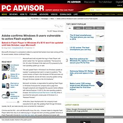 Adobe confirms Windows 8 users vulnerable to active Flash exploits