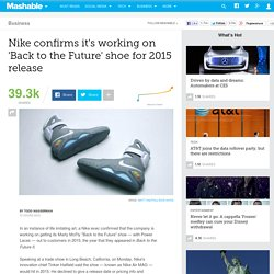 Nike confirms it's working on 'Back to the Future' shoe for 2015 release