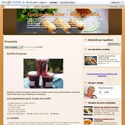 Confit d'ananas