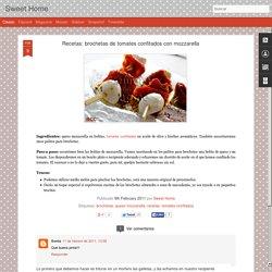 Sweet Home: Recetas: brochetas de tomates confitados con mozzarella