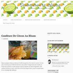 Confiture de citron au rhum