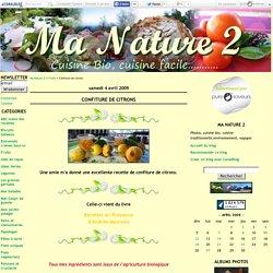 Confiture de citrons - Ma Nature 2