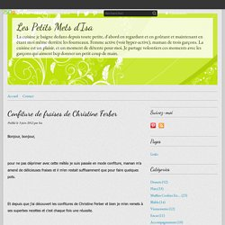 Confiture de fraises de Christine Ferber - Les Petits Mets d'Isa